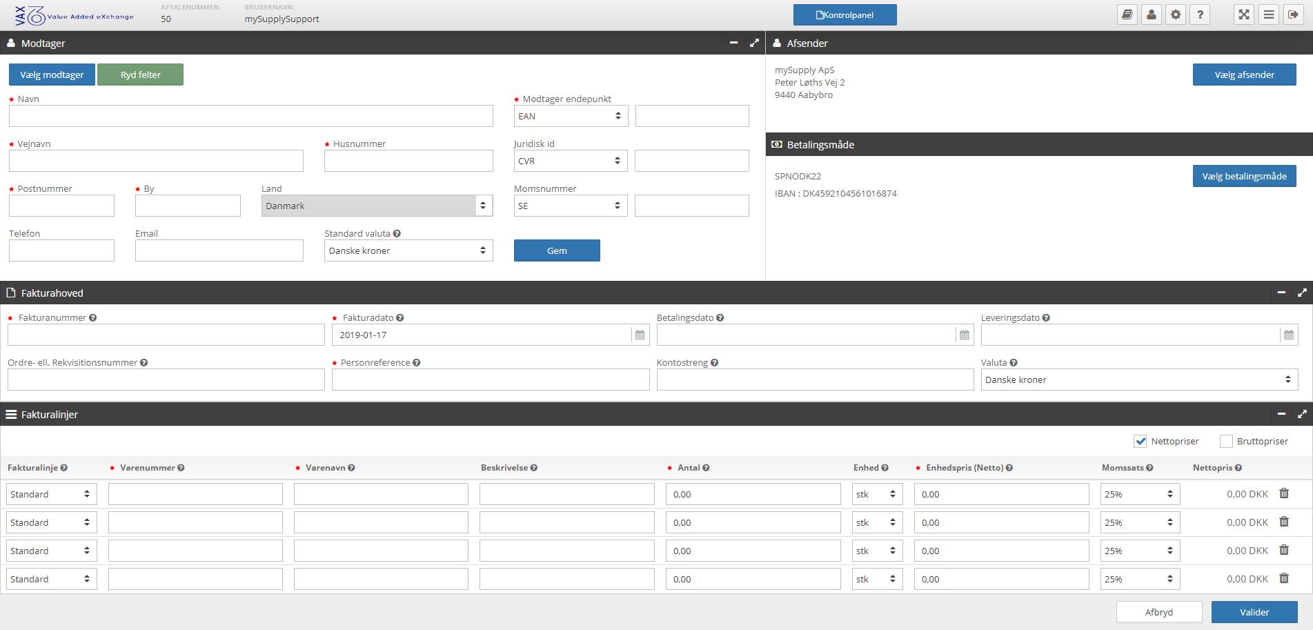 VAX 360 Data Input Form