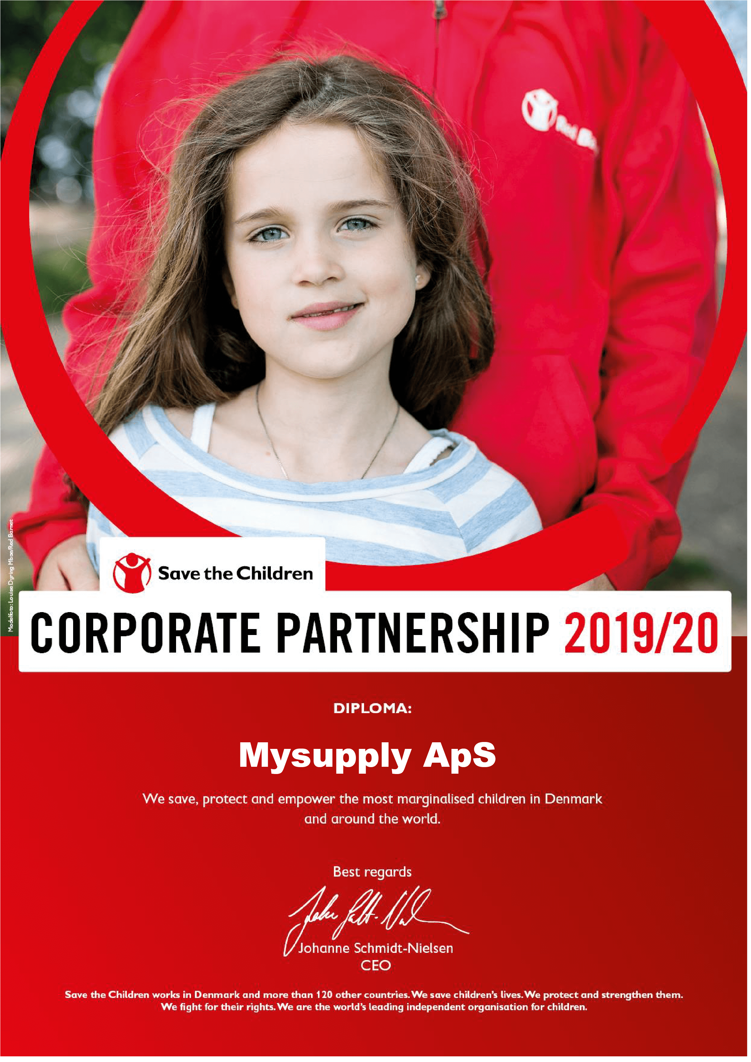 mySupply is Corporate partner for Save the Children